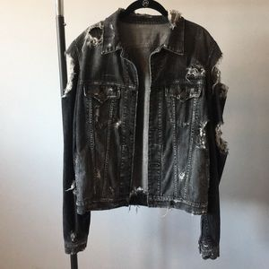 True Religion destroyed denim jacket